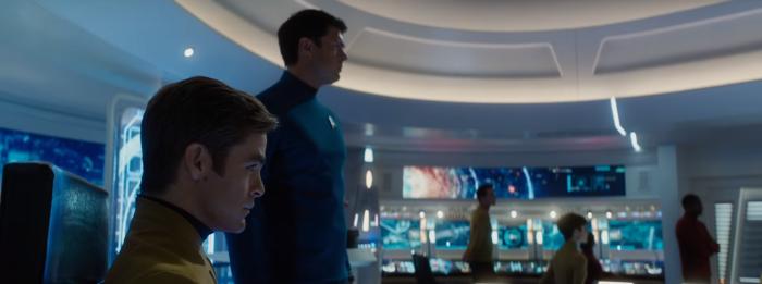 Star Trek Beyond Trailer 2 Captain Kirk Chris Pine and Bones Karl Urban On Bridge