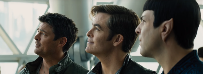 Star Trek Beyond Trailer 2 Captain Kirk Chris Pine Bones Karl Urban Spock Look to Stars