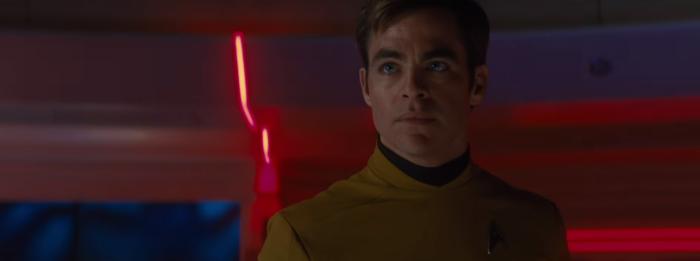 Star Trek Beyond Trailer 2 Captain Kirk Chris Pine Classic Yellow Uniform