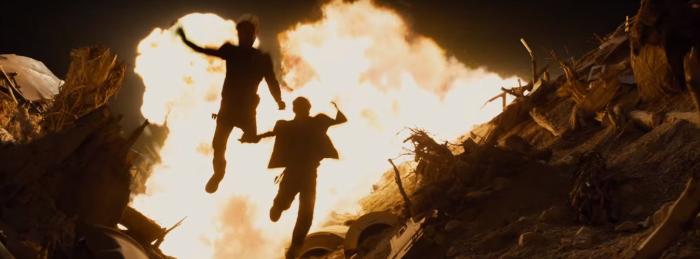Star Trek Beyond Trailer 2 Captain Kirk Chris Pine Jumps From Explosion