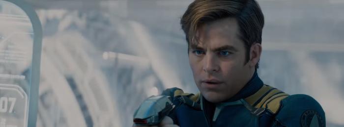 Star Trek Beyond Trailer 2 Captain Kirk Chris Pine New Uniform With Phaser