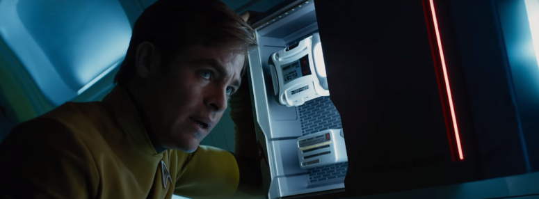 Star Trek Beyond Trailer 2 Captain Kirk Chris Pine Takes a Breath