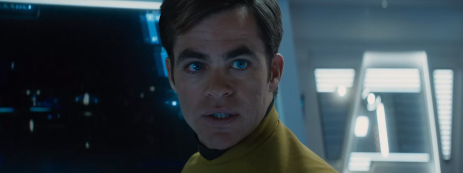 Star Trek Beyond Trailer 2 Captain Kirk Chris Pine Worried