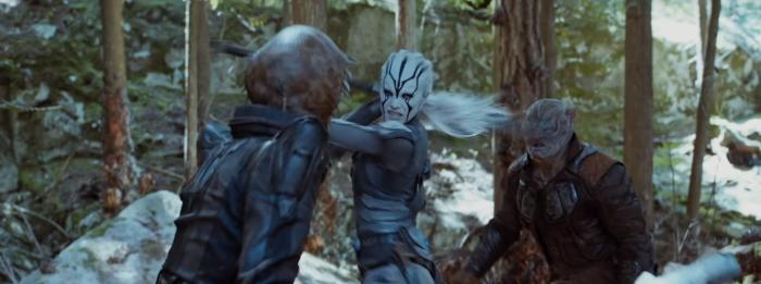 Star Trek Beyond Trailer 2 Female Alien Fights Bad Aliens
