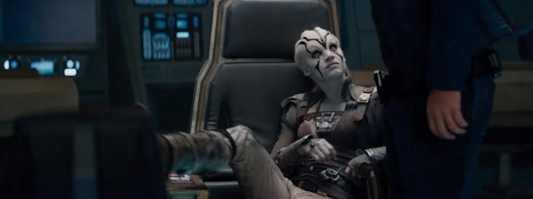 Star Trek Beyond Trailer 2 New Female Alien Sits in Captains Chair