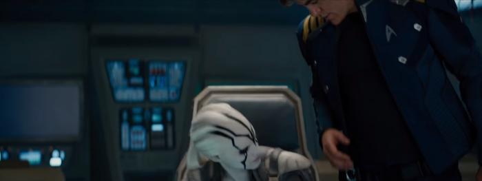 Star Trek Beyond Trailer 2 New Female Alien Sits in Kirks Chair
