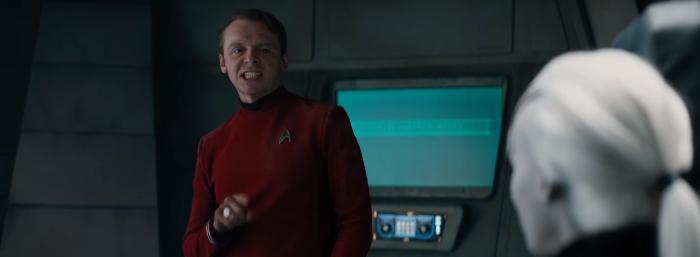 Star Trek Beyond Trailer 2 Simon Pegg Scotty He Really Likes the Chair