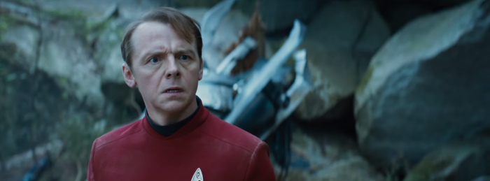Star Trek Beyond Trailer 2 Simon Pegg Scotty Plugs On Alien Planet
