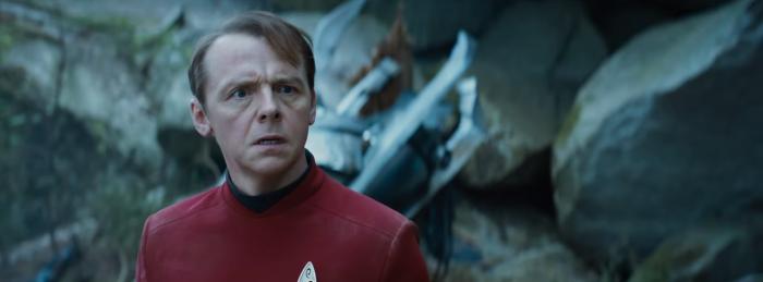 Star Trek Beyond Trailer 2 Simon Pegg Scotty Plugs On Alien Planet