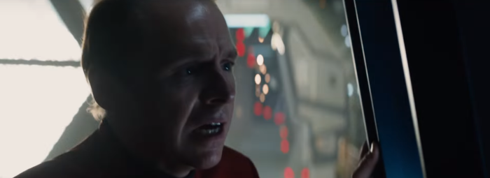 Star Trek Beyond Trailer 2 Simon Pegg Scotty Plugs Worried
