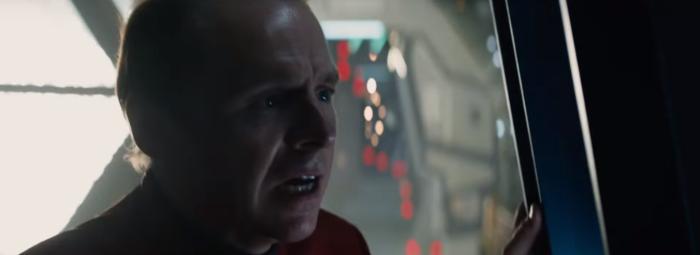 Star Trek Beyond Trailer 2 Simon Pegg Scotty Plugs Worried