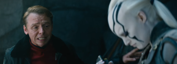 Star Trek Beyond Trailer 2 Simon Pegg Scotty Talks to New female Alien