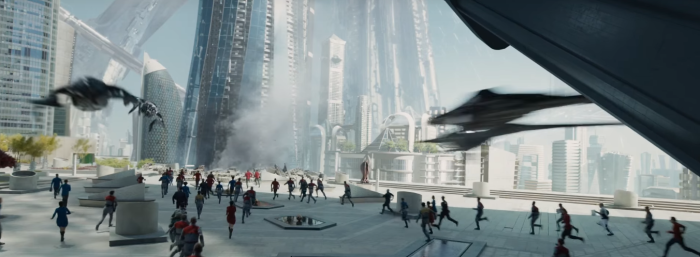Star Trek Beyond Trailer 2 starfleet under attack by alien ships