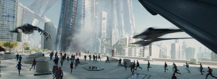Star Trek Beyond Trailer 2 starfleet under attack by alien ships