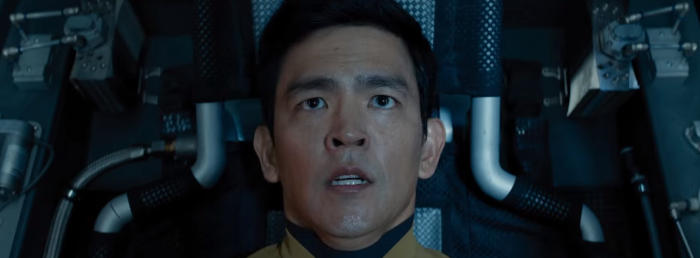 Star Trek Beyond Trailer 2 Sulu Jon Cho in Escape Pod 2
