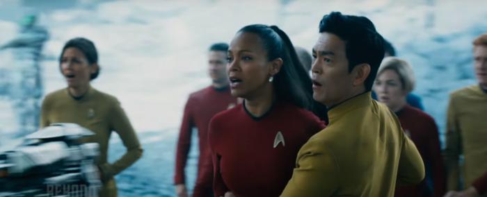 Star Trek Beyond Trailer 2 Uhura and Sulu on Alien Planet
