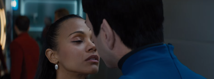 Star Trek Beyond Trailer 2 Uhura Zoe Saldana Kisses Spock