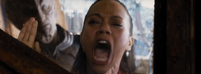 Star Trek Beyond Trailer 2 Uhura Zoe Saldana Screams