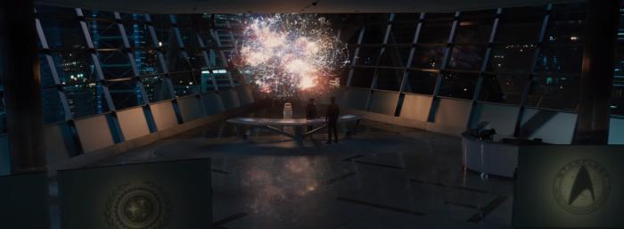 Star Trek Beyond Trailer Captain Kirk Chris Pine at Starfleet HQ