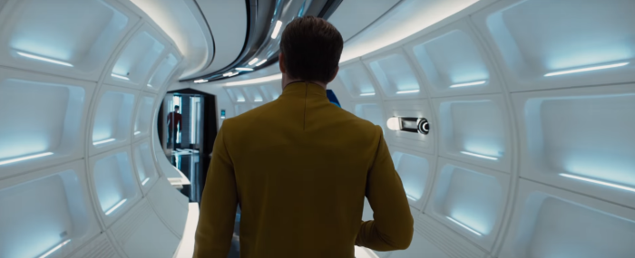 Star Trek Beyond Trailer Captain Kirk Chris Pine Hallway