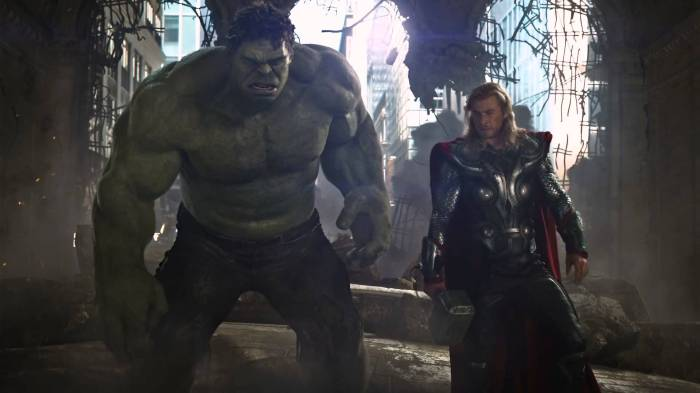 The Avengers Thor and the Hulk