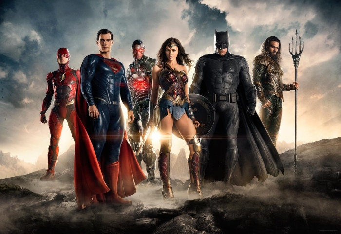 Justice League SDCC First Image Flash Batman Superman Wonder Woman Cyborg Aquaman