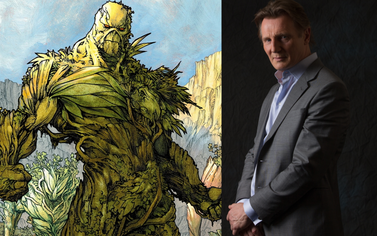 Liam Neeson as Swamp Thing Justice League Dark