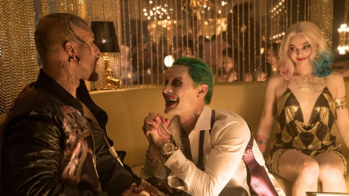 Suicide Squad Review Joker Jared Leto Harley Quinn Margot Robbie and Common