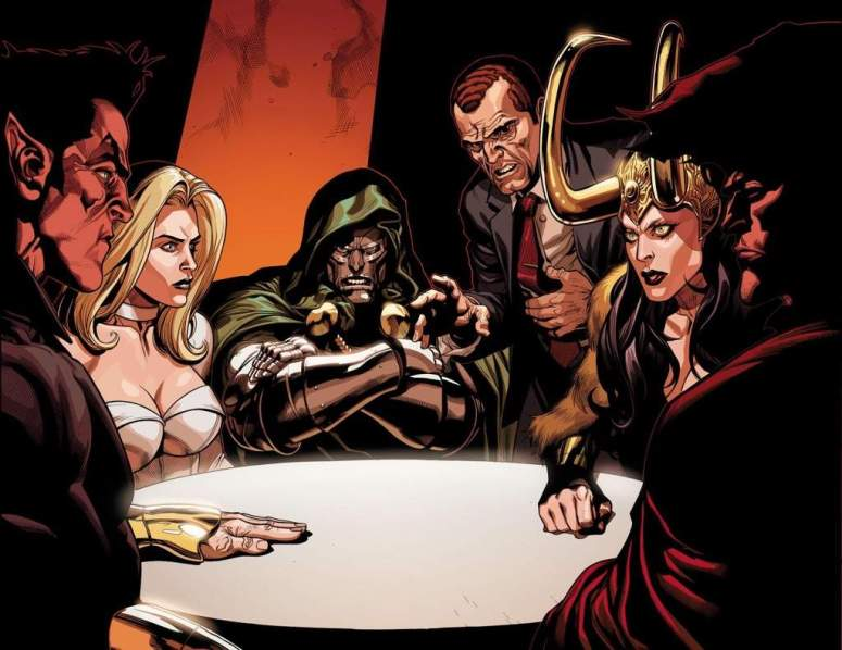 Norman Osborn with Marvel's Baddest Villains