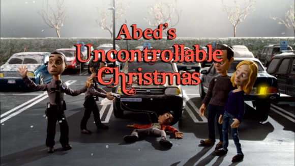 Abed's Uncontrollable Christmas Title Screen - Community