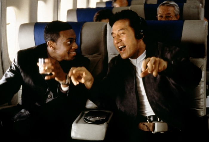 Rush Hour Jackie Chan and Christ Tucker Sing on Airplane